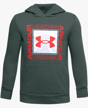 Boys' UA Rival Fleece Box Logo Hoodie